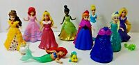 Disney Princess Magic Clip Polly Pocket Dolls Lot Of 8
