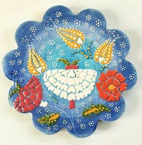 Trivet Turkish Handmade Ceramic Kitchen Hot Plate Tulips Garden Flowers NEW