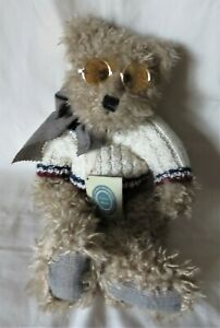 "Boyds Bear Plush 16"" Smith Witter II Style No. 5110 w/tags, glasses, sweater"