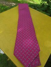 French Hermes Pink Lizard  Silk Tie  5661