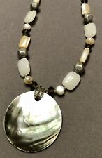 Lia Sophia Seascapes Mother Of Pearl & White Jade Necklace