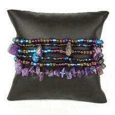 Br191-106 Desert Sunset Six Strand Bracelet Stones and Crystal Beads Hand Made