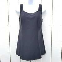 Shore Shapes Swimwear Size 14 Skirted One Piece Swimsuit Black Wire Free