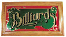 Billiards Wall Mirror Mirror IN Wood Frame