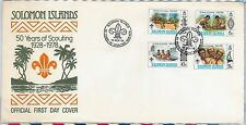 BOY SCOUTS --- SOLOMON ISLANDS -  POSTAL HISTORY - FDC COVER 1978