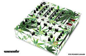 Skin Decal Wrap for PIONEER DJM-600 DJ Mixer CD Pro Audio DJM600 Parts WEEDS WHT