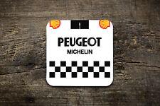 Peugeot Retro Jersey Coaster Coaster - Bike Ninja Cycling Retro Road Jersey