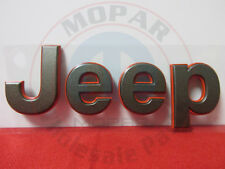 "JEEP PATRIOT Bronze & Red 75th Anniversary ""JEEP"" Hood Nameplate NEW OEM MOPAR"