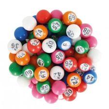 90 Bolas de Loto numeradas multicolor 22 mm de diámetro Bingo bolas 914