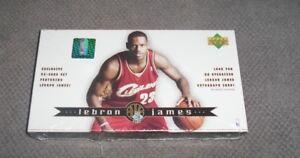 NBA LeBron James Cavaliers UD 32 Rookie Trading Card Set New Sealed Auto ??