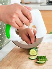 360° Rolling Circular Knife Stainless Steel Vegetable Food Cutter Slicer Kitchen