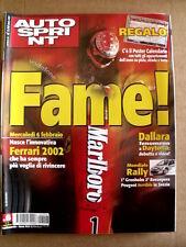 AUTOSPRINT n°6 2002 con MAxi Poster Calendario di tutte le corse   [P58]