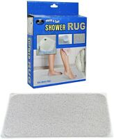 44x75cm Shower Rug Anti Slip Loofah Bathroom Bath Mat Carpet Water Drain Nonslip