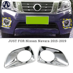 For Nissan Frontier/NP300 2015-2019 Exterior Carbon Front Fog Lamp Light Cover