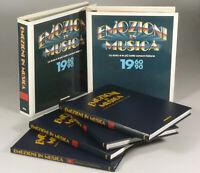 PRL) ENCICLOPEDIA EMOZIONI IN MUSICA 1992 DE AGOSTINI 4 VOLUMI + 2 RACCOGLITORI