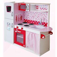 Grande Madera Cocina con Nevera Por Leomark - Rosa - NUEVO Infantil