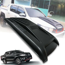 MATTE BLACK SCOOP BONNET HOOD FOR TOYOTA HILUX REVO SR5 M70 M80 ROCCO 2015-2019