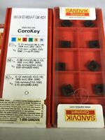1 BOX OF 10 INSERTS - 880 04 03 W05H-P-GM 4024 SANDVIK