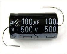 QTY 3 New MIEC 100UF 500V 105C Axial Electrolytic Capacitors