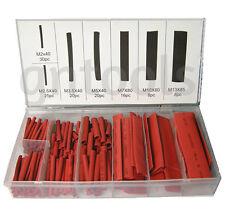 Rojo 127pc CALOR SHRINK WIRE WRAP Cable de envolver tubería heatshrink Tubo Surtido