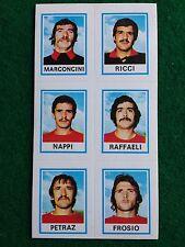CALCIATORI 1974-75 74-1975 n 580 PERUGIA 6 giocatori , Figurina Panini NEW