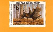 1981 NWTF WILD TURKEY STAMP CALL FREE SHIPPING