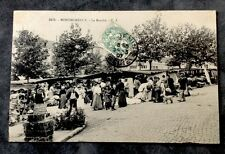 CPA. MONTMORENCY. 95 - Le Marché. 1907. Paniers osier. Mode.