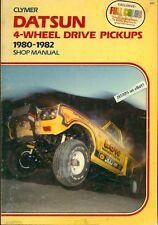1980 1981 1982 DATSUN TRUCK REPAIR MANUAL, FOUR WHEEL DRIVE, 4WD TRUCKS, CLYMER