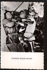 AC2076  MOVIE FILM YOUNG ROGER MOORE IVANHOE  FIGHTING SCENE  RPPC