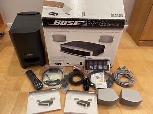 Bose 321 3-2-1 GSX Serie III Heimkino-System Lautsprecher Top Zustand.