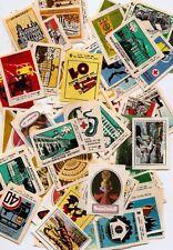 Russia USSR Matchbox Labels Set  traffic safety ,car ,ARHITEKTURE 100 DIFFERENT