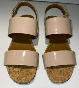 Easy Spirit Noal Patent Leather Sandals LtNatural (US Size 9M Women)
