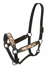 Showman Leather Belt Style Halter w/ ORANGE Painted Filigree Tooling! NEW TACK!!