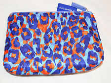 Estee Lauder Blue & Red Animal Print Cosmetics, Toiletries Bag NEW