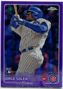 JORGE SOLER 2015 Topps Chrome PURPLE REFRACTOR RC Royals Cubs /250