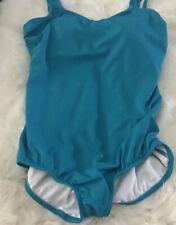 NWOT Lands  End One Piece Gorgeous Blue No Underwire One Piece Bathing Suit 14 L