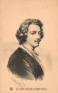 Vintage Postcard 1910's A. Van Dyck (1599-1641) Portrait