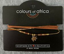 "- Never Been Taken off Card South African ""Colours of Africa"" Handmade Bracelet"