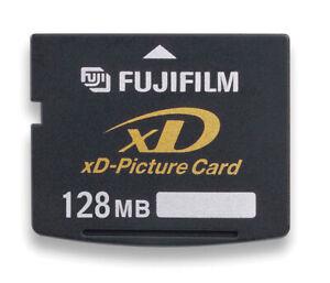 GENUINE FUJIFILM 128MB XD MEMORY CARD STANDARD TYPE FUJI FINEPIX/OLYMPUS CAMERAS