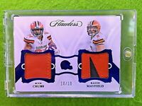 BAKER MAYFIELD FLAWLESS NICK CHUBB JERSEY CARD 10/10 BROWNS SP PATCH 2019 Panini