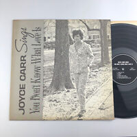 Joyce Carr Sings You Don't Know What Love Is Private jazz LP Washington DC Vocal