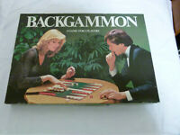 Backgammon Board Game : All Complete : Vintage 80s : Strategy 2 Player Game