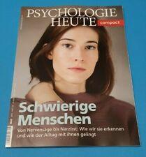 Psychologie Heute compact Schwierige Menschen  Heft 56/2019 ungelesen 1A abs.TOP