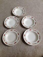 "Set of 5 Old English Luncheon Salad Plates 8 3/4"" Johnson Bros England"