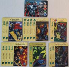 DC Comics Overpower CCG Steel Full Set Hero + Specials