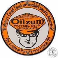 Oilzum White and Bagley Co. Motor Oil Gasoline Garage Metal Sign
