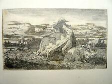 Jean Baptiste Louis GUY (1824-1888) LYON Superbe Dessin Deux Vaches Signé