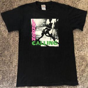 080 The Clash London Calling T Shirt Adult Size S Black Cotton VGC