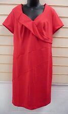 KALEIDOSCOPE DRESS RED SIZE 16 JERSEY SHIFT SMART FORMAL BNWT (A001