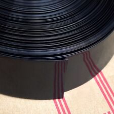 Black Φ98mm Battery Sleeve Wrap PVC Heat Shrink Tubing Flat Width 155mm x 1M